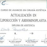 certificado liposuccion abdominoplatia